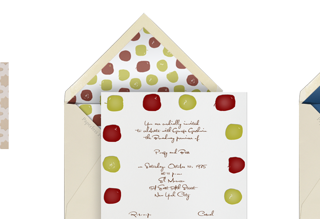 Jody and Hunter sent their invites for their fall wedding with Paperless
