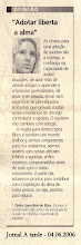 Matria Jornal A tarde sobre Adoo