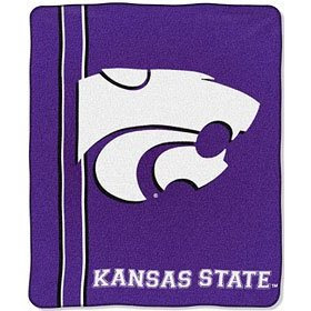 K-State purple throw with white Wildcats logo.