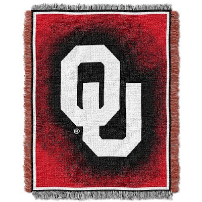 Red and black OU Sooners blanket.