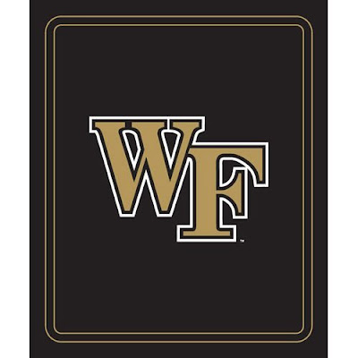 WF Demon Deacons black fleece blanket.
