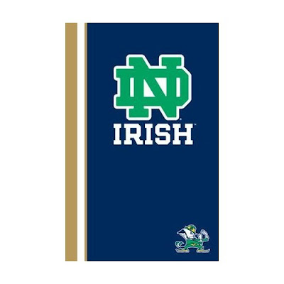 ND Irish brown, white, blue, and green blanket.