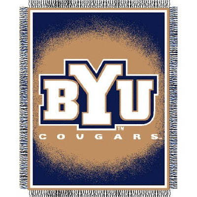 BYU Cougars throw blanket.