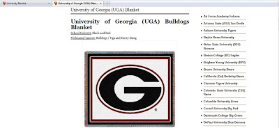 University of Georgia blanket page.