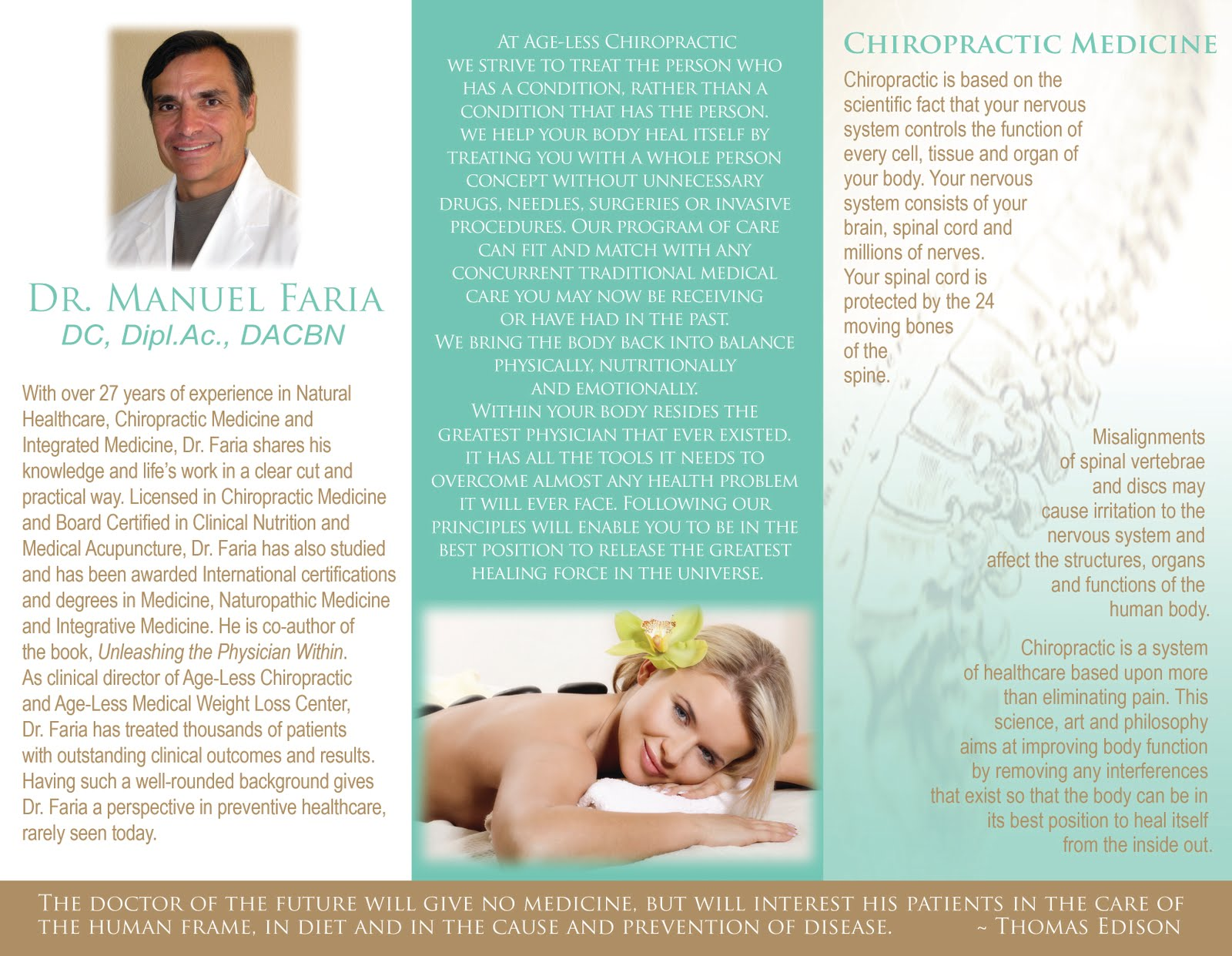Brochure swipe file profit fuzion marketing for Chiropractic brochures template