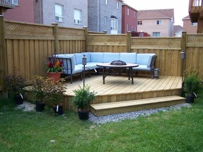 Small urban backyard turned