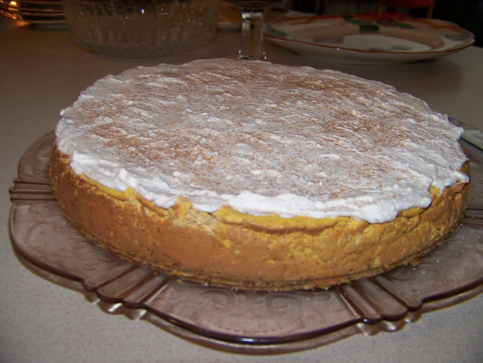 Ginny's Low Carb Kitchen: Pumpkin Cheese Cake Revisited