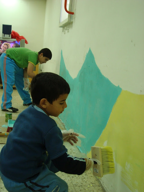 """""""אני צבעתי את החץ הכחול""""- אמר לי אחד הילדים שהשתתפו בפעילות"""