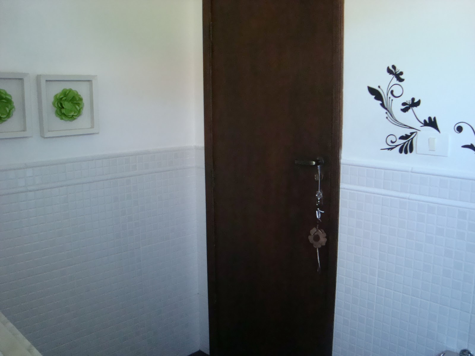 Fernanda Fernandes: Decorando banheiro #41662A 1600x1200 Banheiro Com Azulejo Ate A Metade