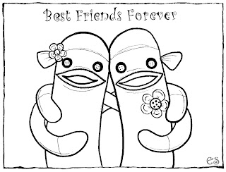 Coloring Pages Of Best Friends Forever