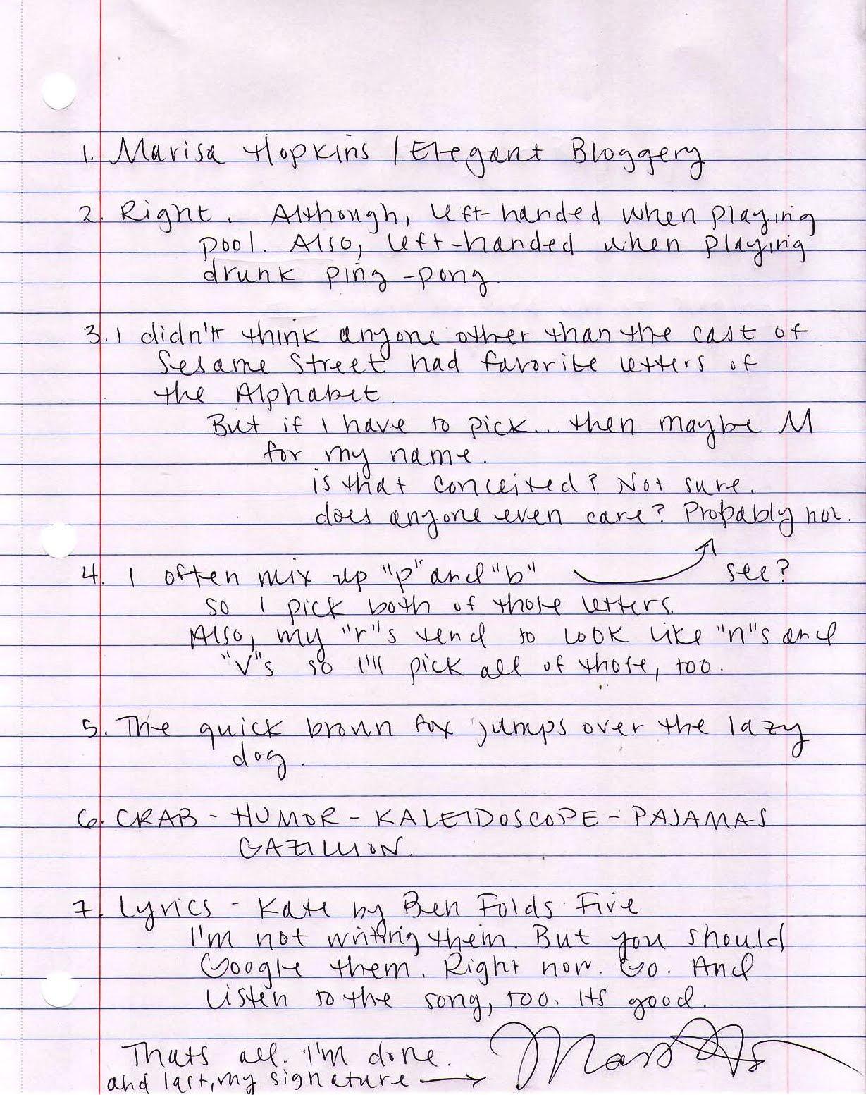Marisa Hopkins Living The Creative Life My Handwriting