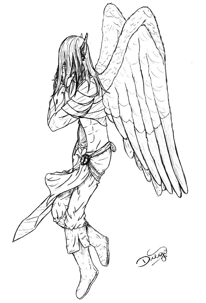Desenhos Amp Hq S By Diego A Elfo Anjo Da Noite