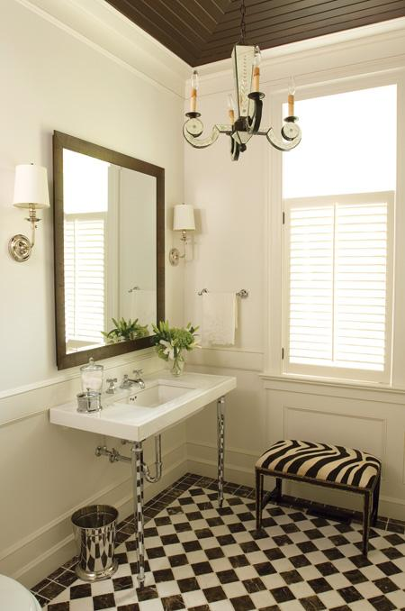 black and white tiled bathroom. Black amp; White Tile Bathroom