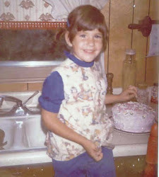 Welcome to my playground!  This is me {Tracey} at age 4 ... I got an early start in the kitchen!