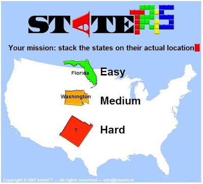 Statetris. Get it? Like Tetris, but with states. Oh, how clever!