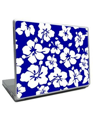 Blue Hibiscus Laptop Cover