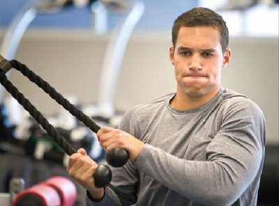Indians center fielder Grady Sizemore works out at the new Cleveland Indians training facility in Goodyear, AZ. Photo by Sherrie Buzby