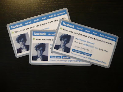 Facebook-styled business cards