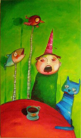 """"""" O meu irmão e o gato azul"""""""