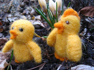Needlefelted chicks tutorial (in swedish)-Lr dig att nlfilta en kyckling