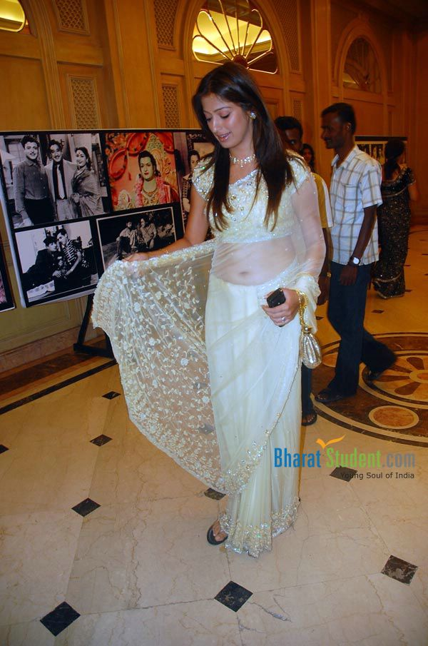 Lakshmi Rai in Transparent Saree at Some Event