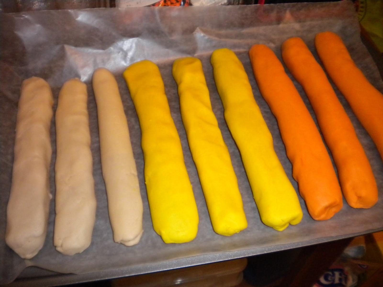 walker's wookie cookies: candy corn cookies