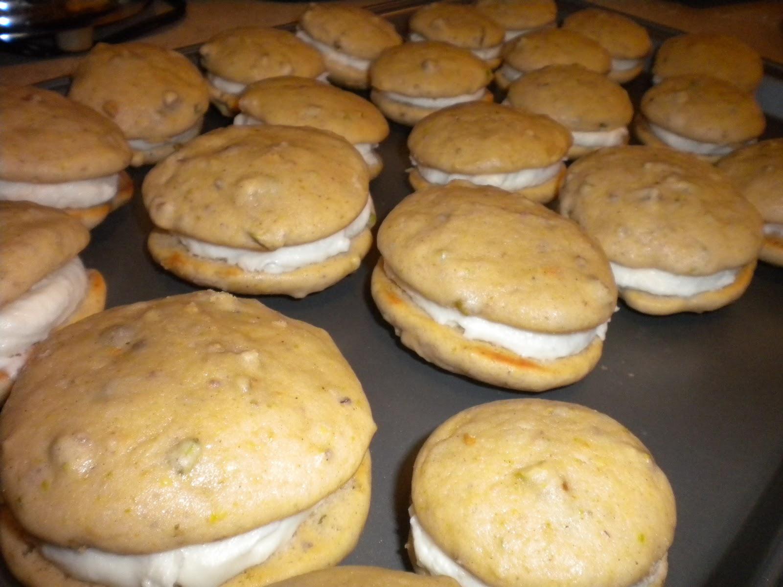 walker's wookie cookies: pistachio-cardamom whoopie pies