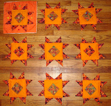 quilt squares for fall swap at MJF