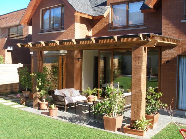 Pin fotos terrazas y pergolas baldosas en terraza on pinterest - Terrazas con pergolas ...