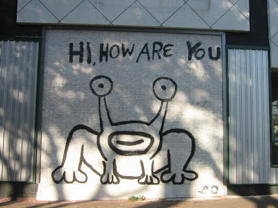 Chronological snobbery the daniel johnston frog mural in for Daniel johnston mural austin