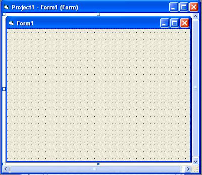 Visual Basic Form Designer Window