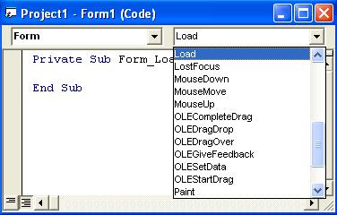 Visual Basic Code Editor Window
