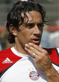 Luca Toni of Bayern Munich