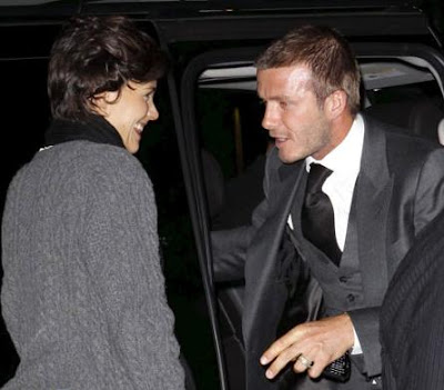 David Beckham and Katie Holmes