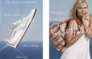 Cole Haan and Maria Sharapova