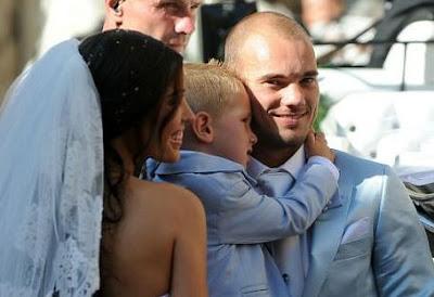 Wesley Sneijder marries Yolanthe Cabau van Kasbergen