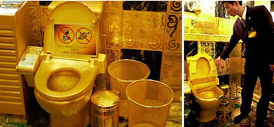 Extraordinary Golden Toilet