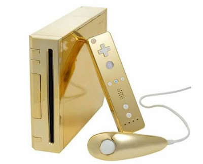 Extraordinary Gold-plated Nintendo Wii