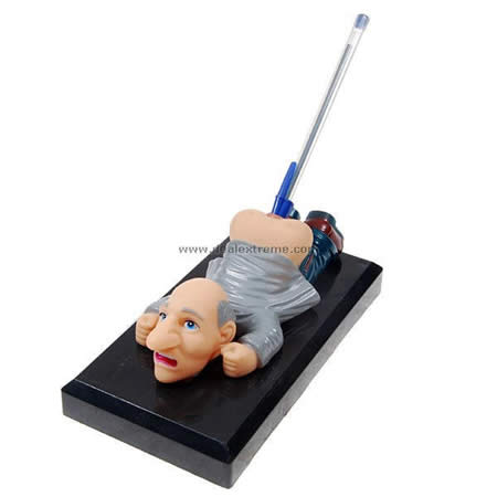Sound activated old chap butt funny pen holder