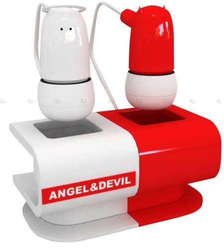 Angel and Devil earphones 5Giant earphones