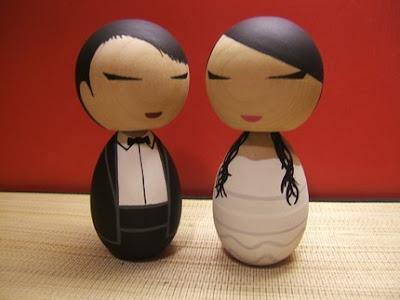 Kokeshi Doll Wedding Cake Topper Mari Ef Bf Bde Mari Ef Bf Bd