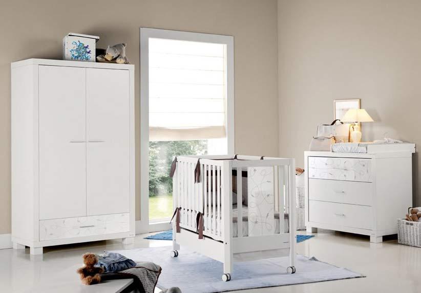Inspiraciu00f3n: dormitorios de bebe en blanco y marru00f3n