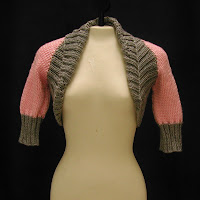 Bolero Jacket in pink and grey is on sale today!