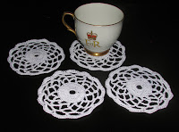 Christmas Flower Coasters, on sale today!