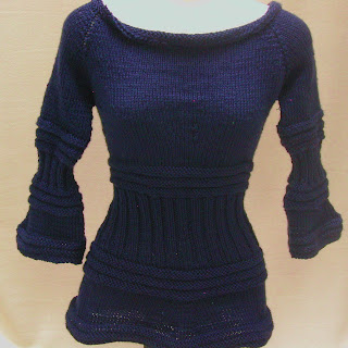 This blue fitted sweater is now available in my etsy store