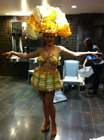 Showgirl costume made of balloons!
