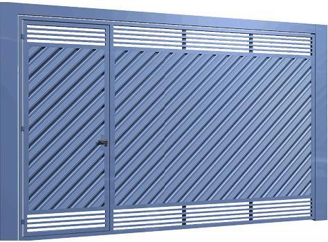 Lambril em diagonal com metalon 30x20 em horizontal