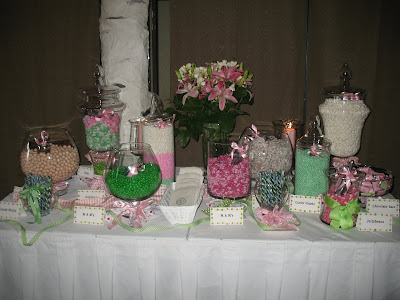 Candy  Wedding Reception on The Candy Bar   This Was The Take Home Favor  I Loved It  So Pretty