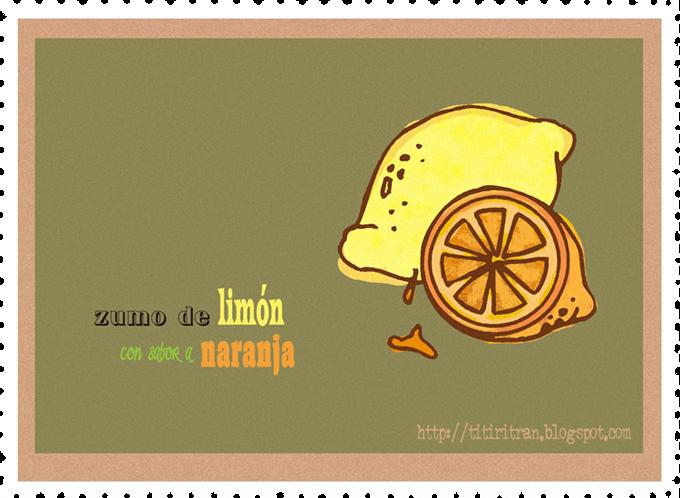 .zumo de limón con sabor a naranja.