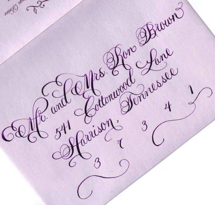 Envelope calligraphy on pinterest